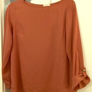 Everly Drapey Boatneck with Gold Sleeve Buttons